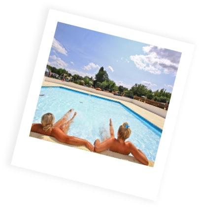 piscine au camping du Bournat en Dordogne