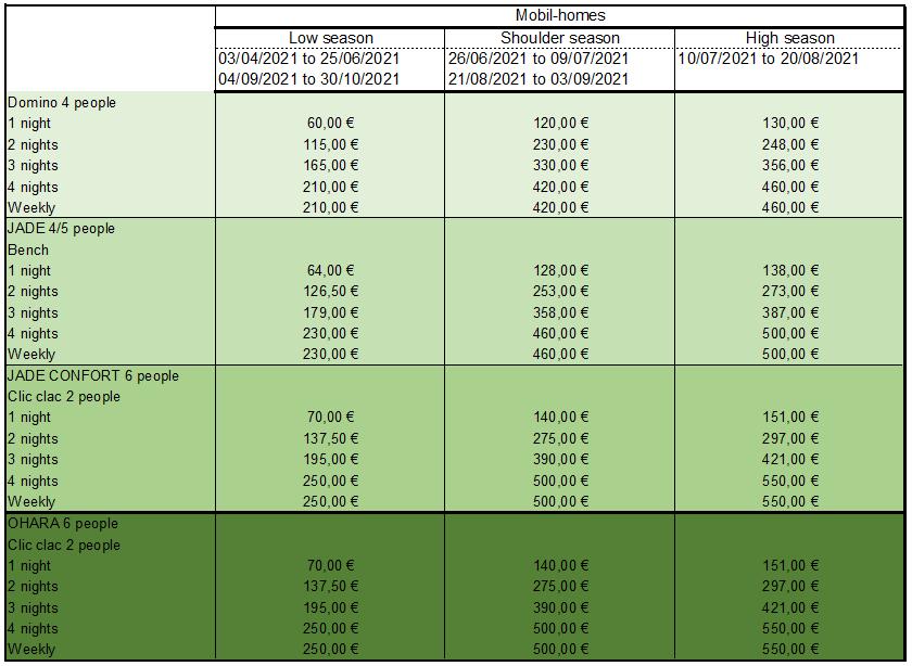 tarifs 2021 MH-1 anglais